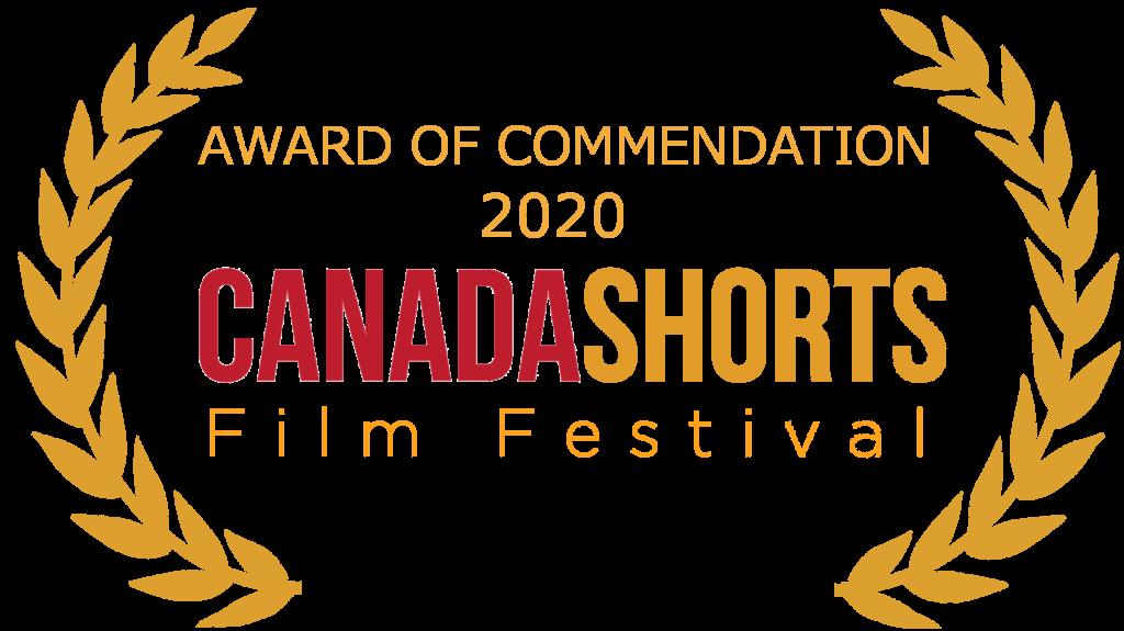 Canada shorts AWARD OF COMMENDATION laurel - gold